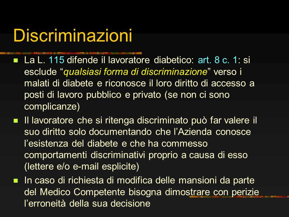 Discriminazioni