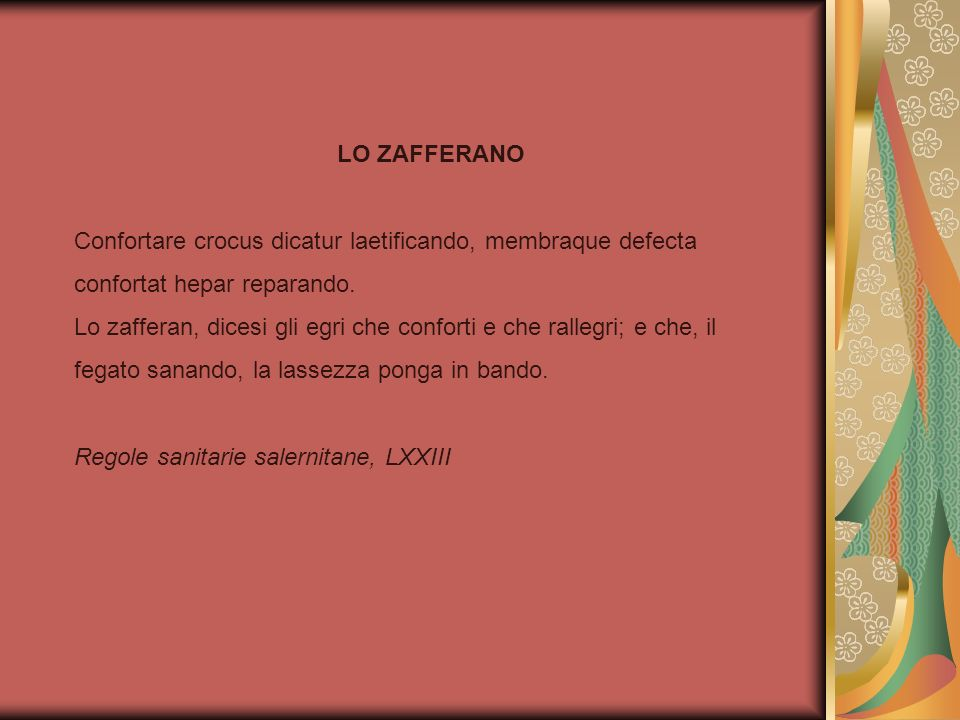 LO ZAFFERANO