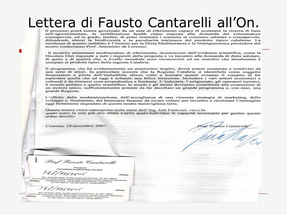 Lettera di Fausto Cantarelli all'On. Pirillo –parte II -