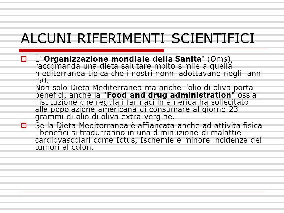 ALCUNI RIFERIMENTI SCIENTIFICI