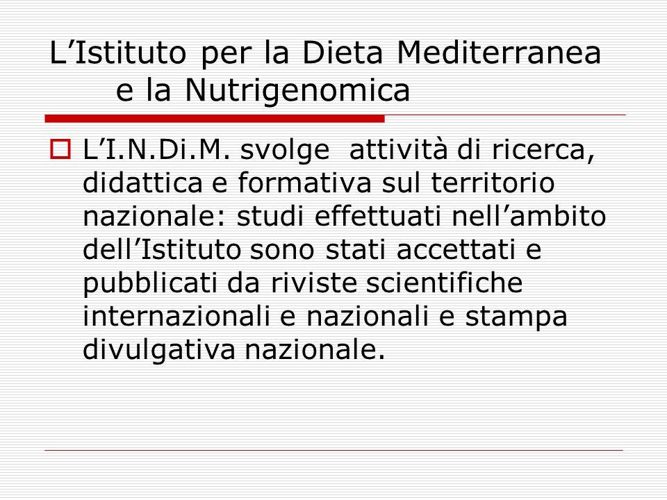L'Istituto per la Dieta Mediterranea e la Nutrigenomica
