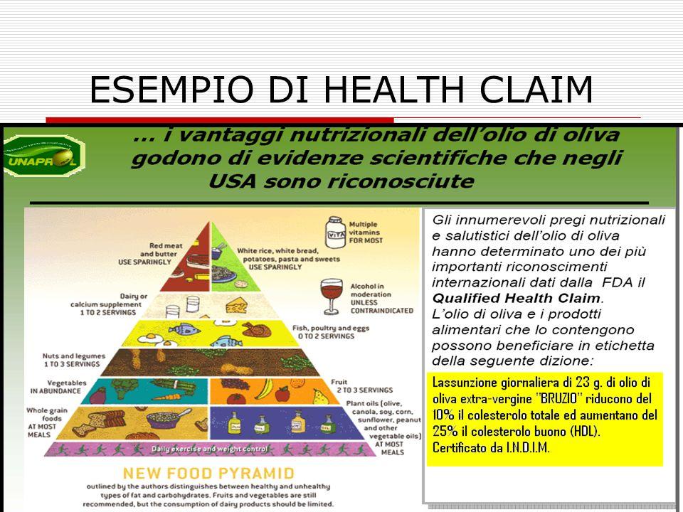 ESEMPIO DI HEALTH CLAIM