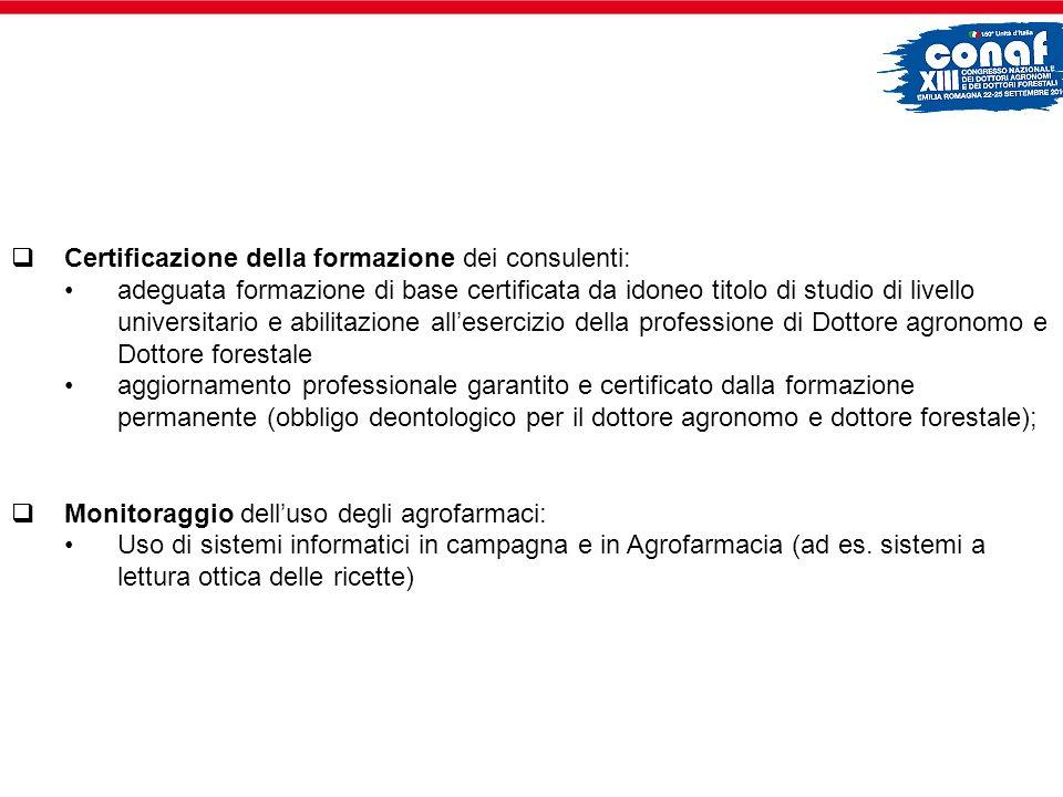 Certificazione della formazione dei consulenti: