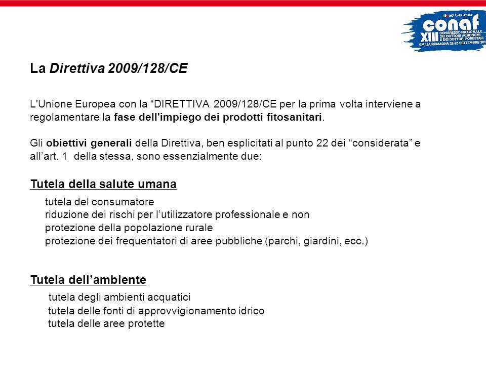 La Direttiva 2009/128/CE Tutela della salute umana