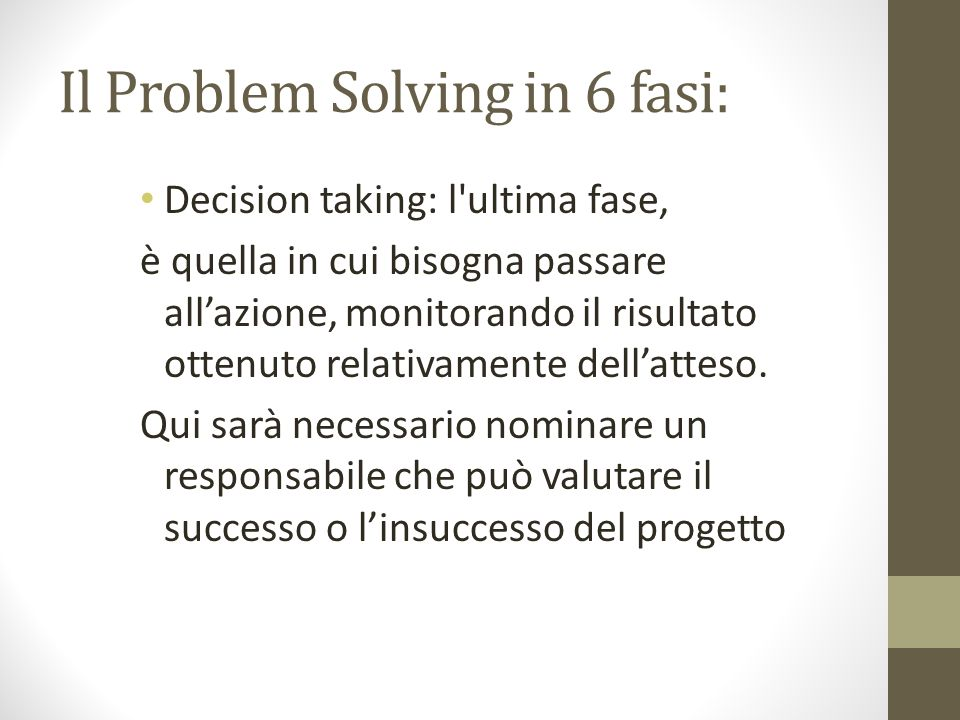 Il Problem Solving in 6 fasi: