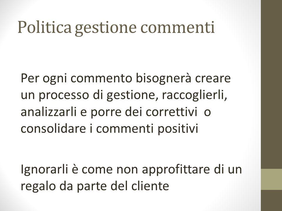 Politica gestione commenti