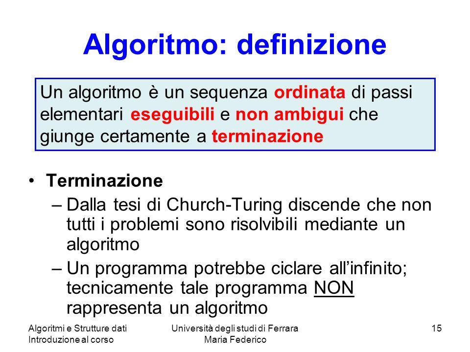 Algoritmo: definizione
