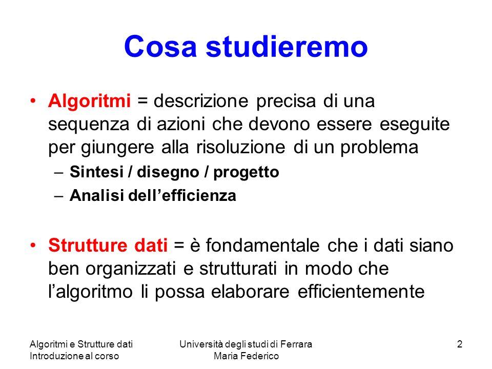 Università degli studi di Ferrara Maria Federico