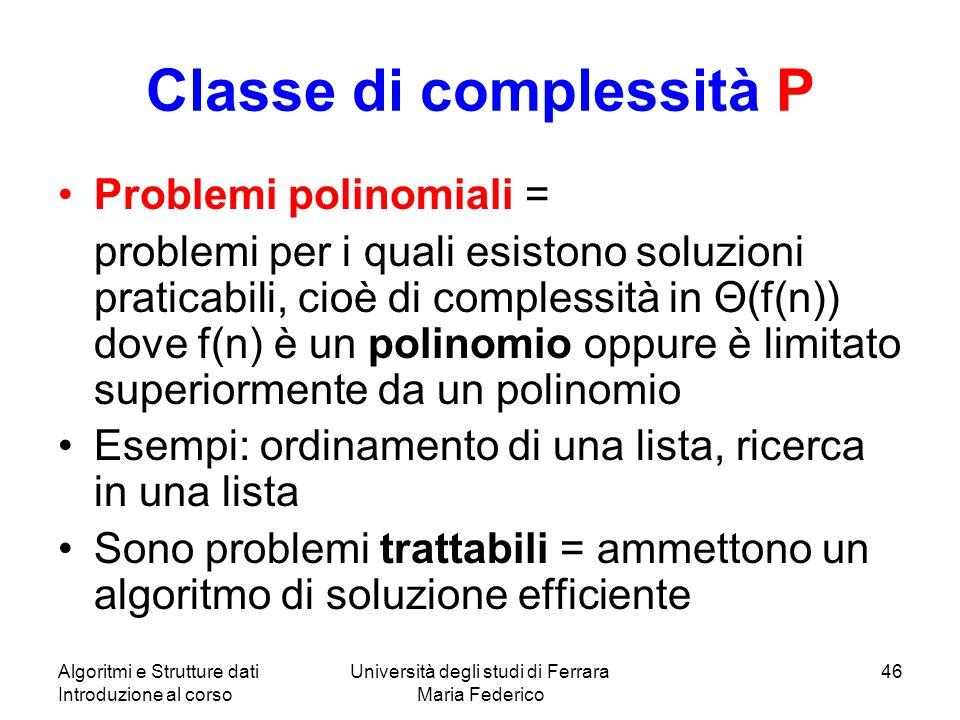 Classe di complessità P