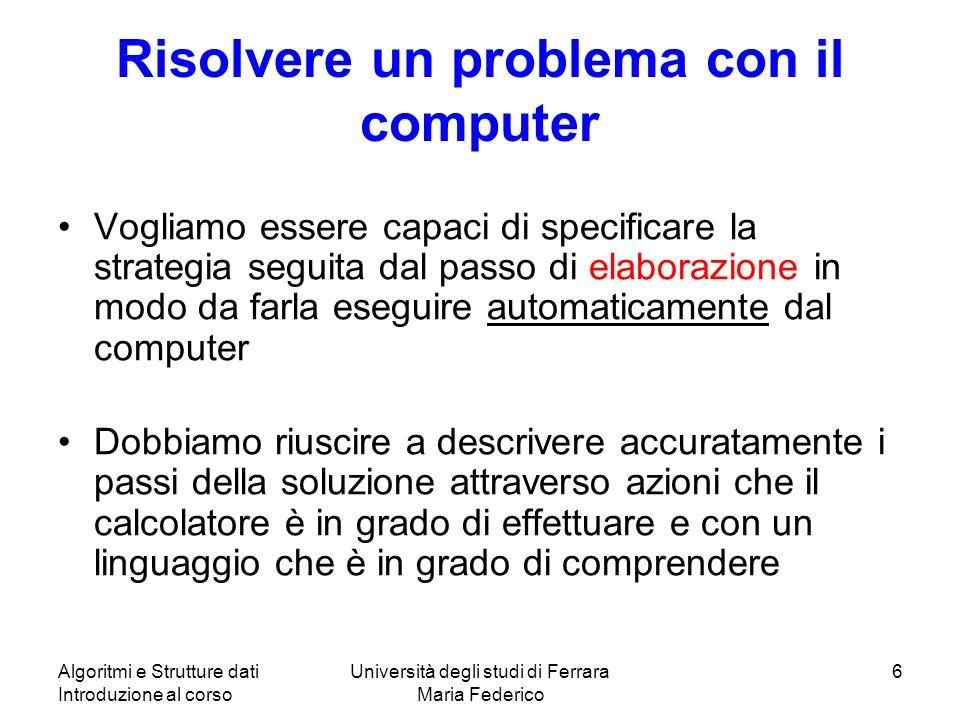 Risolvere un problema con il computer