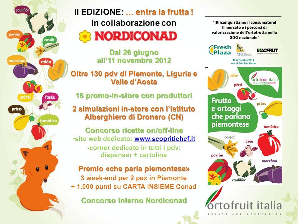 II EDIZIONE: … entra la frutta ! In collaborazione con