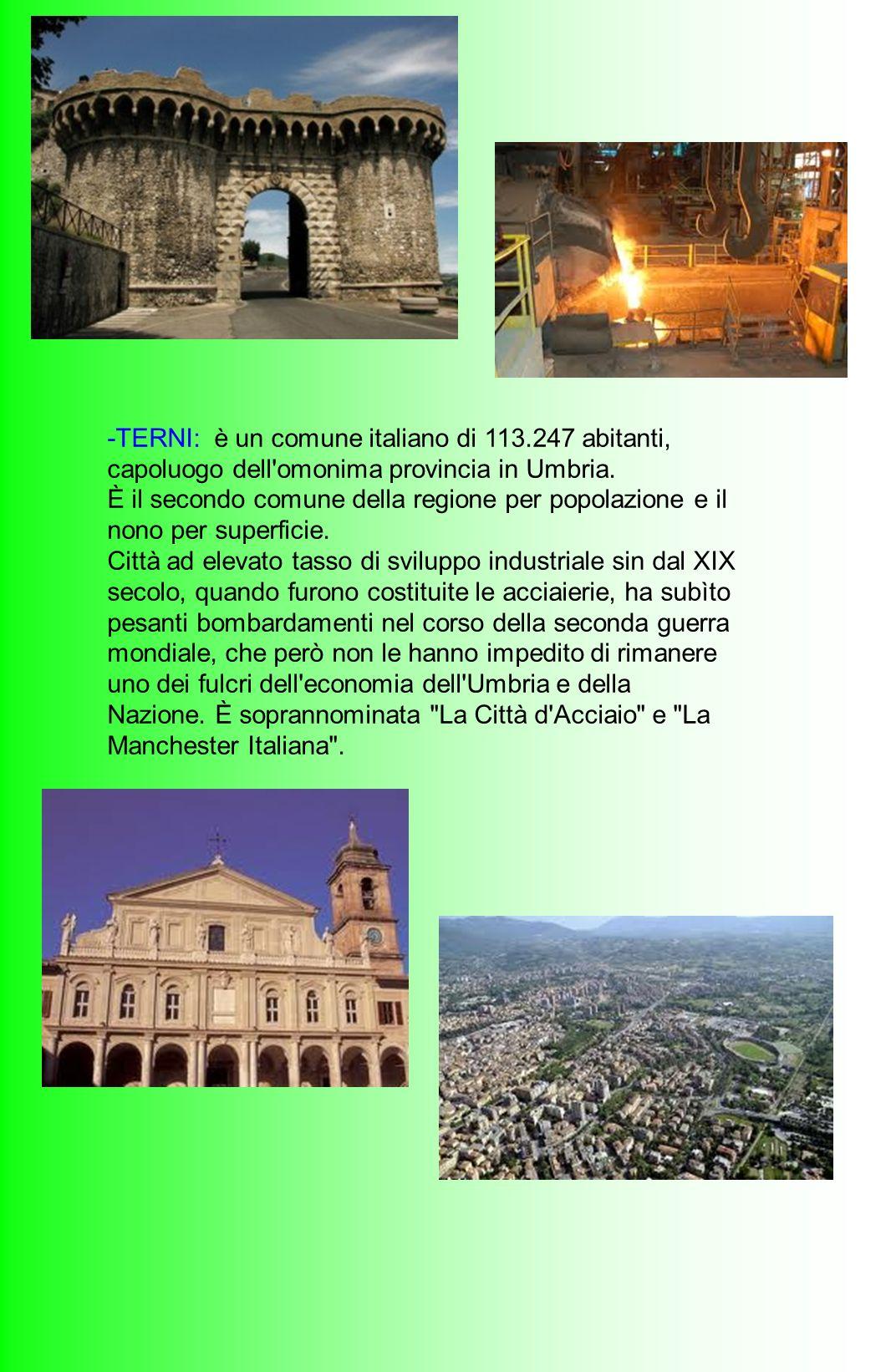 -TERNI: è un comune italiano di 113
