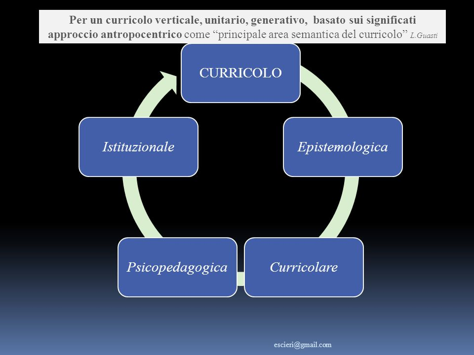 CURRICOLO Epistemologica Curricolare Psicopedagogica Istituzionale