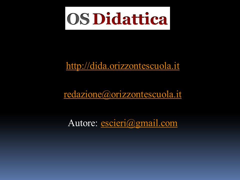 http://dida. orizzontescuola. it redazione@orizzontescuola