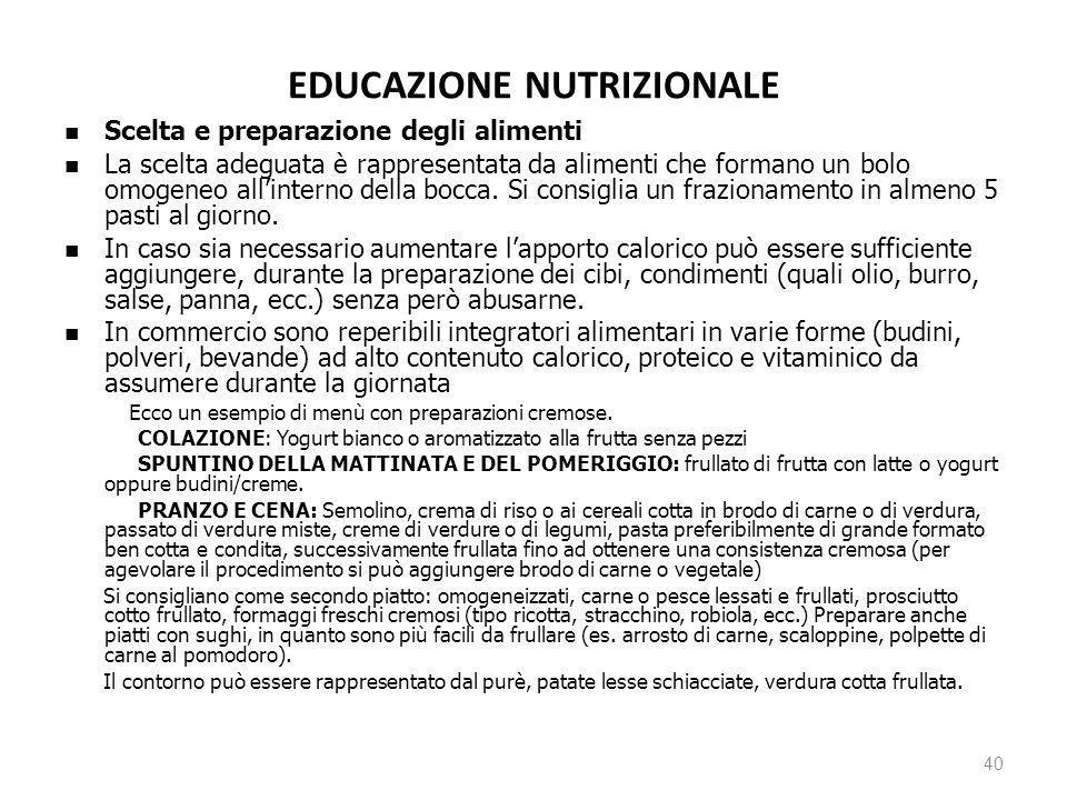 EDUCAZIONE NUTRIZIONALE
