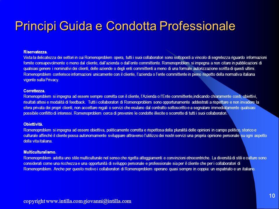 Principi Guida e Condotta Professionale