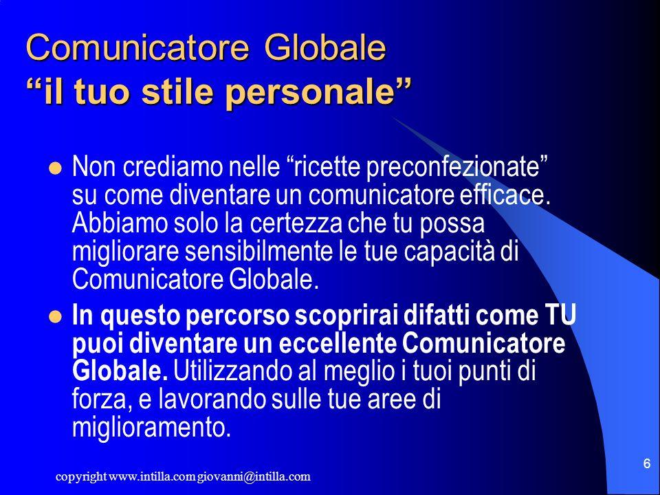 Comunicatore Globale il tuo stile personale