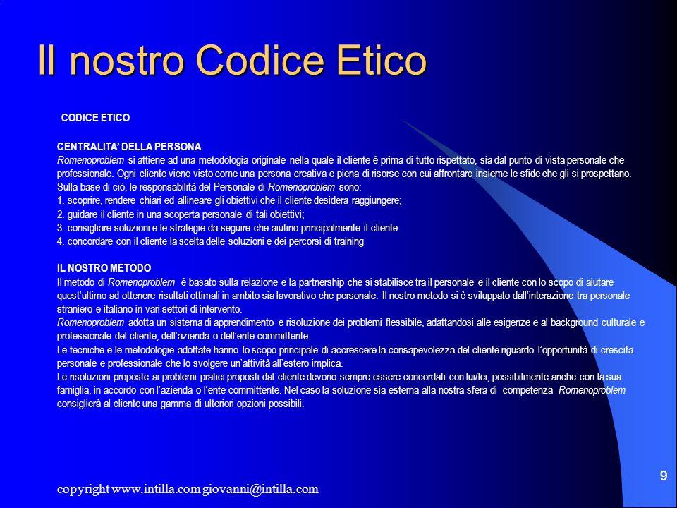 Il nostro Codice Etico CODICE ETICO