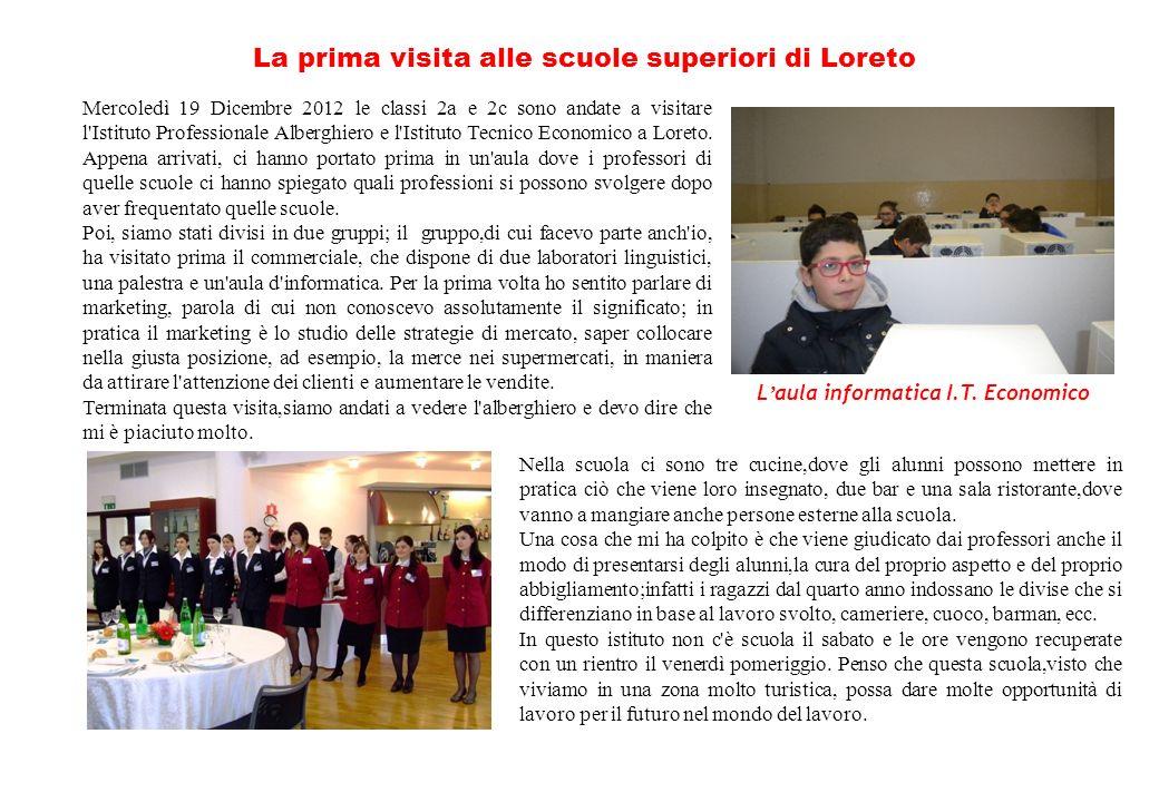 La prima visita alle scuole superiori di Loreto