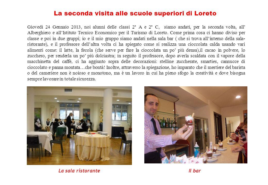 La seconda visita alle scuole superiori di Loreto
