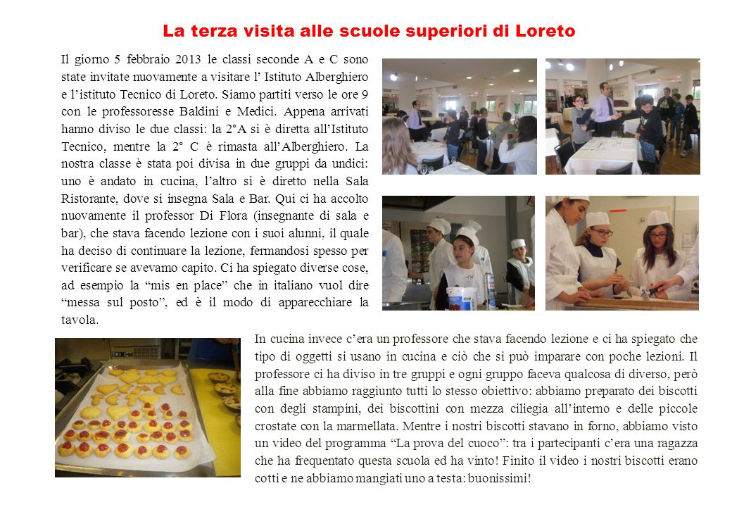 La terza visita alle scuole superiori di Loreto