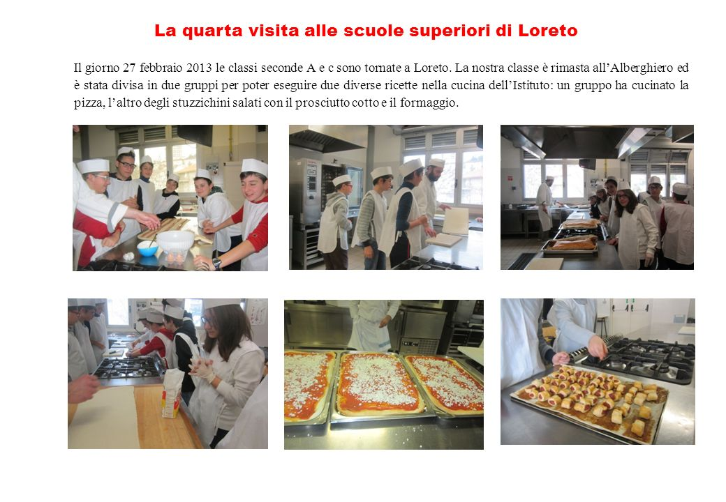 La quarta visita alle scuole superiori di Loreto