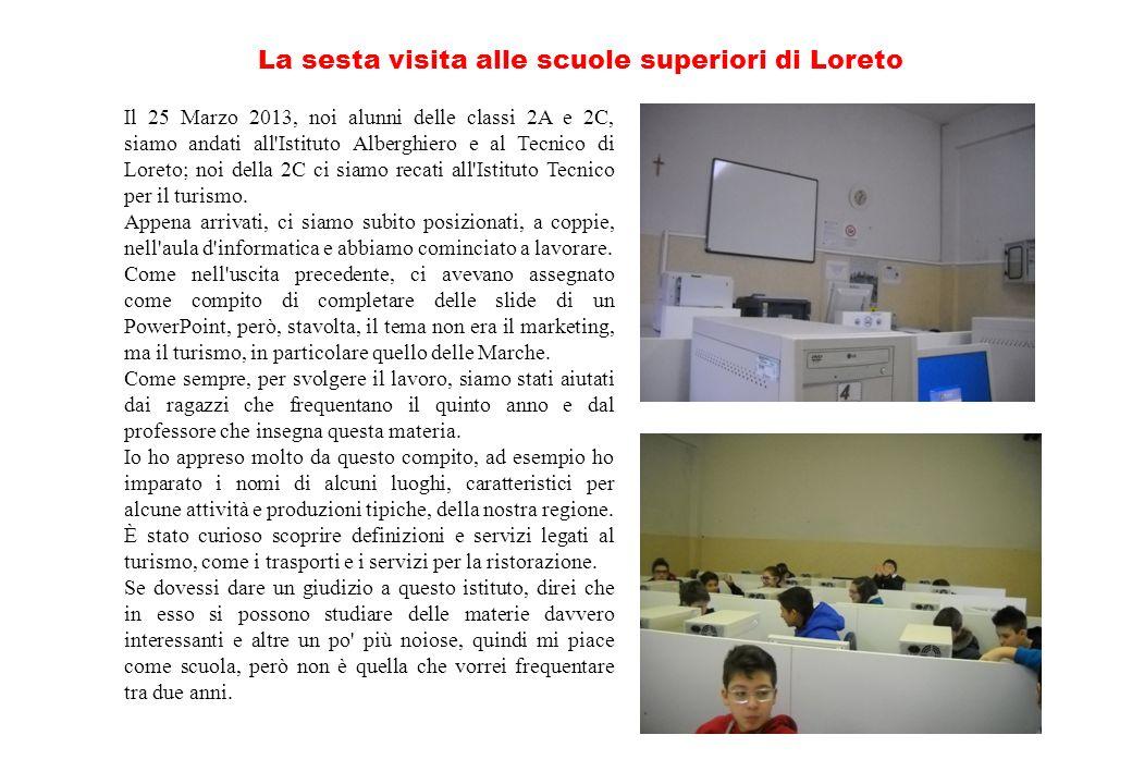 La sesta visita alle scuole superiori di Loreto