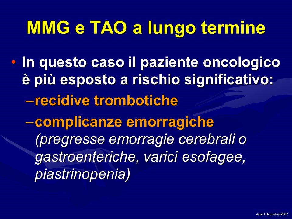 MMG e TAO a lungo termine