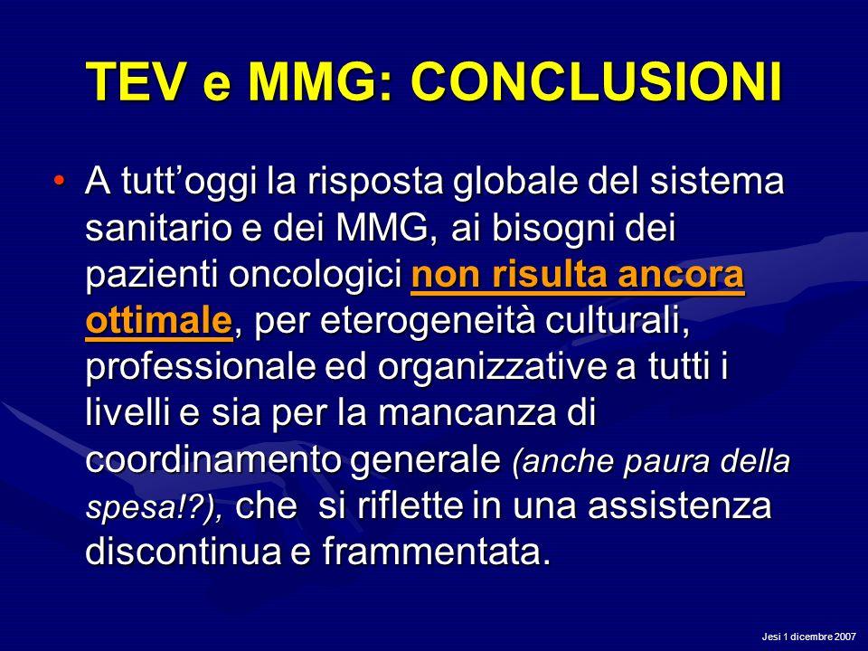 TEV e MMG: CONCLUSIONI
