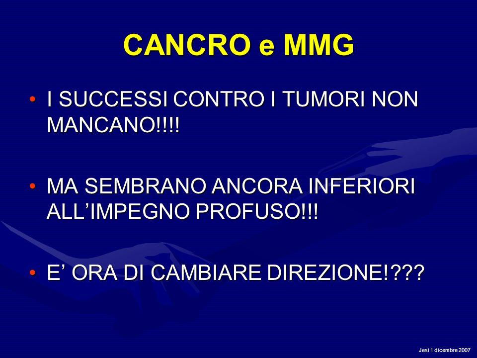 CANCRO e MMG I SUCCESSI CONTRO I TUMORI NON MANCANO!!!!