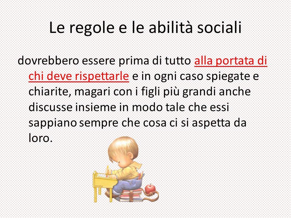 Le regole e le abilità sociali