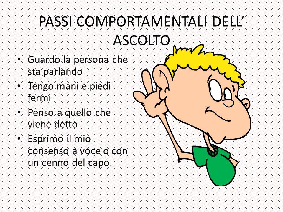 PASSI COMPORTAMENTALI DELL' ASCOLTO