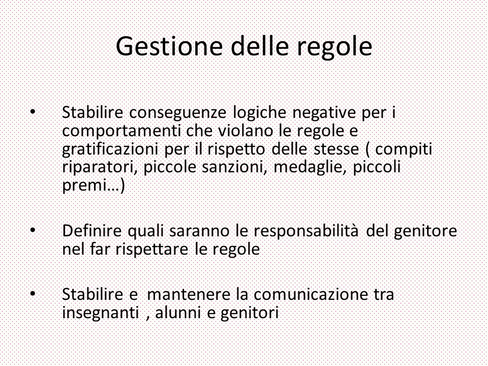 Gestione delle regole