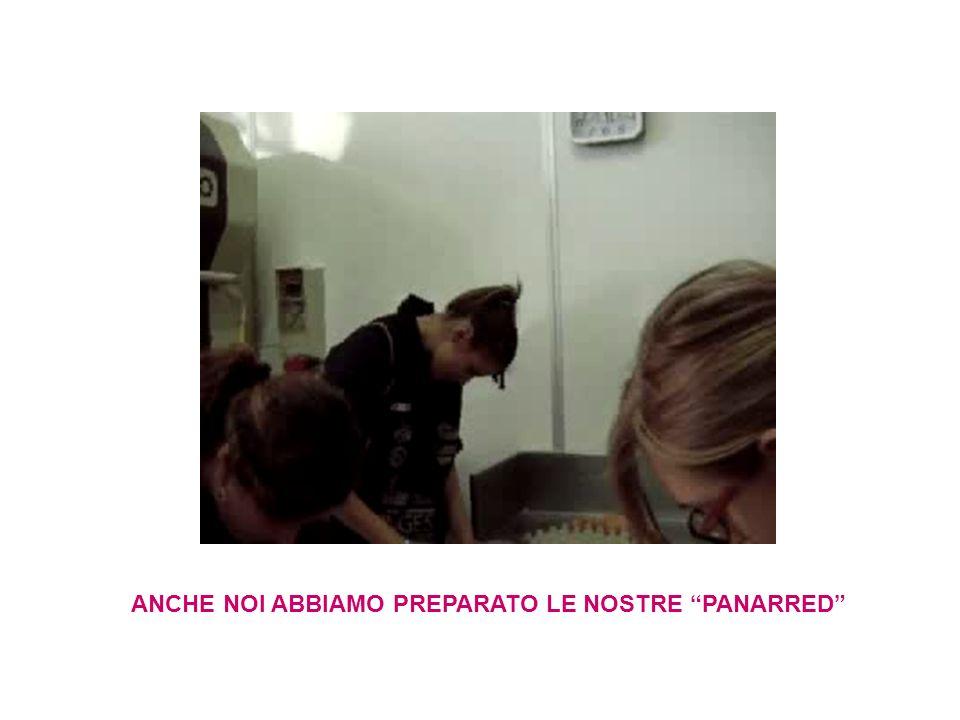 ANCHE NOI ABBIAMO PREPARATO LE NOSTRE PANARRED
