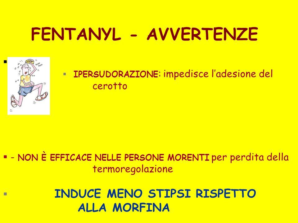 INDUCE MENO STIPSI RISPETTO ALLA MORFINA