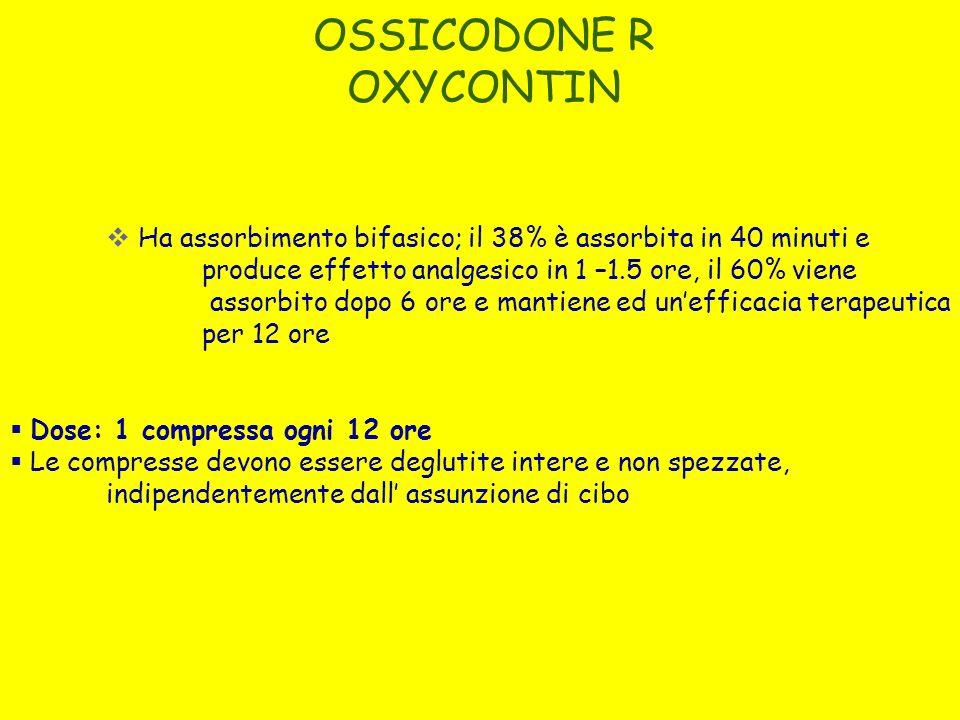 OSSICODONE R OXYCONTIN