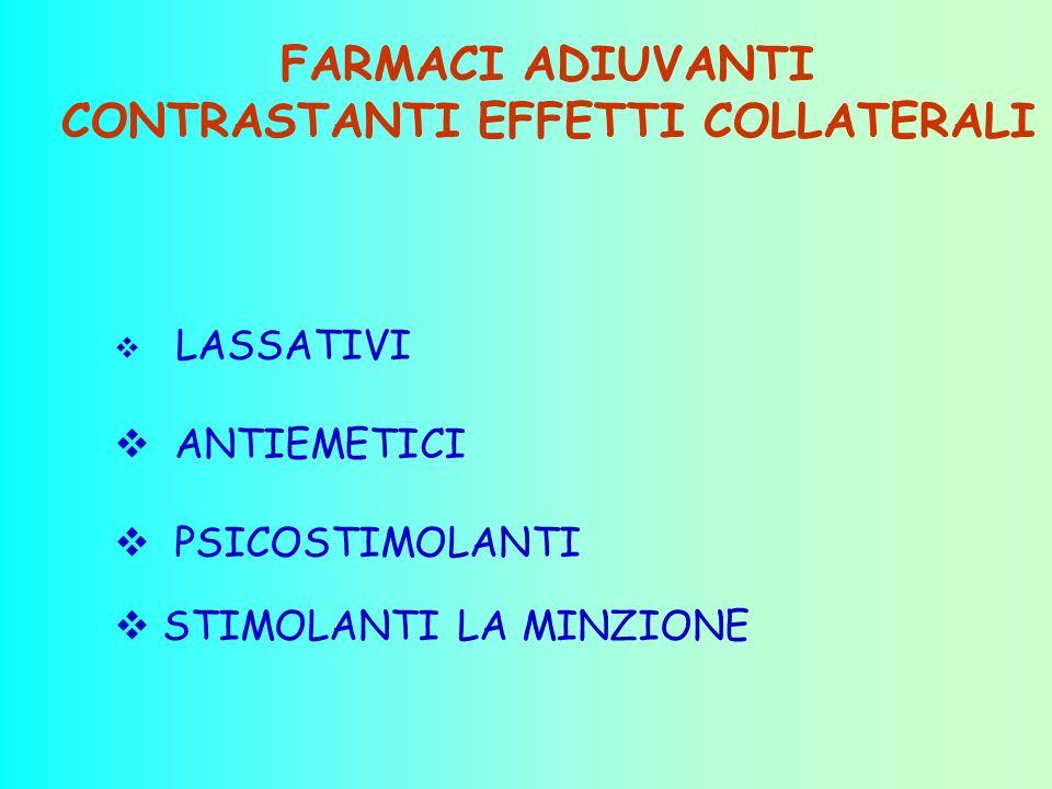 FARMACI ADIUVANTI CONTRASTANTI EFFETTI COLLATERALI