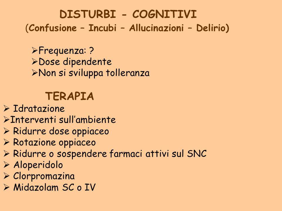 DISTURBI - COGNITIVI TERAPIA