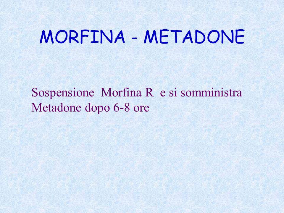 MORFINA - METADONE Sospensione Morfina R e si somministra
