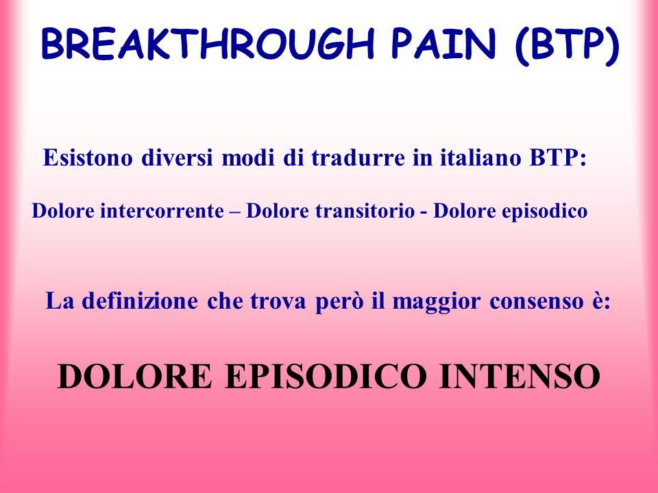 BREAKTHROUGH PAIN (BTP)