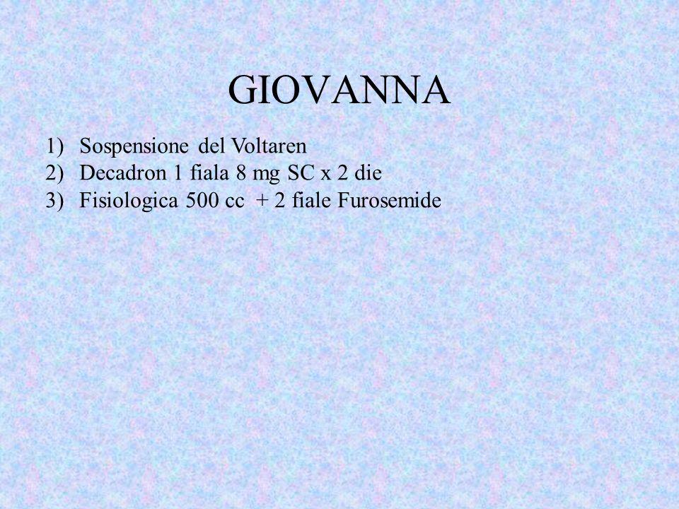 GIOVANNA Sospensione del Voltaren Decadron 1 fiala 8 mg SC x 2 die