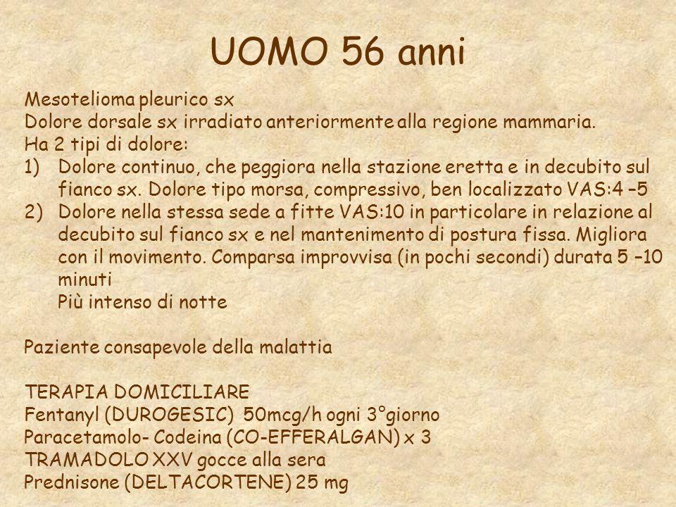 UOMO 56 anni Mesotelioma pleurico sx