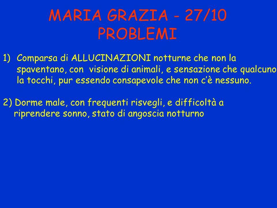 MARIA GRAZIA - 27/10 PROBLEMI