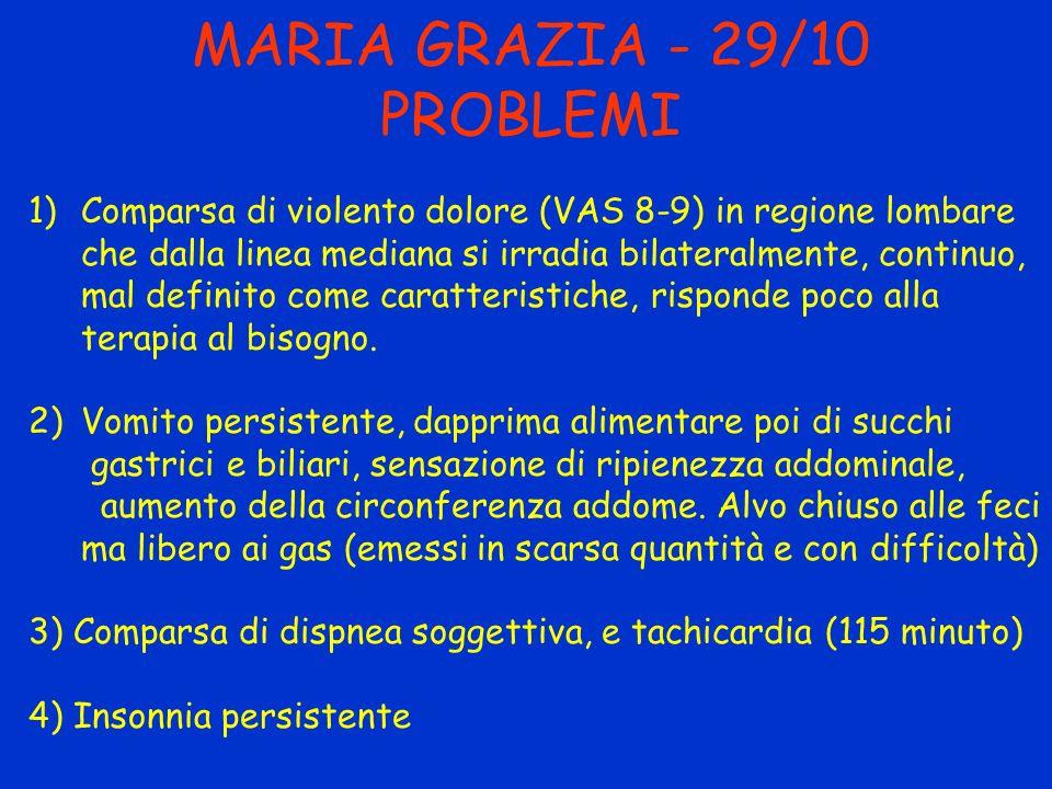 MARIA GRAZIA - 29/10 PROBLEMI