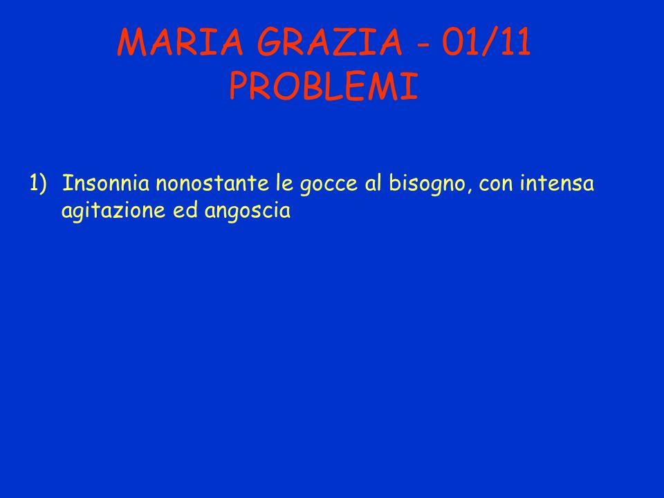 MARIA GRAZIA - 01/11 PROBLEMI