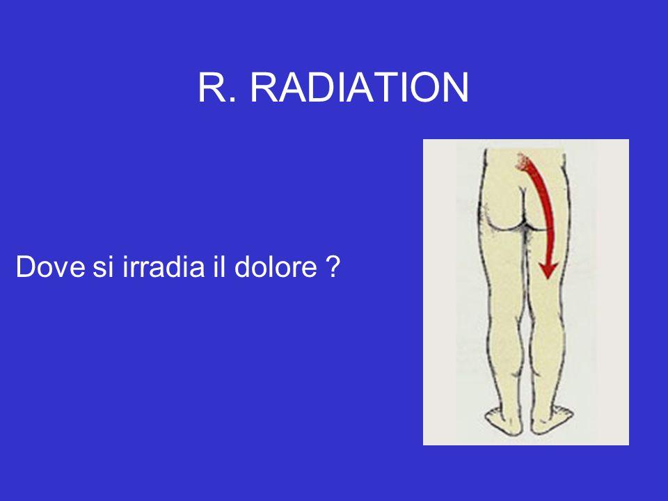 R. RADIATION Dove si irradia il dolore