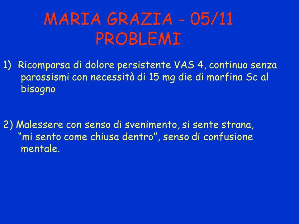 MARIA GRAZIA - 05/11 PROBLEMI