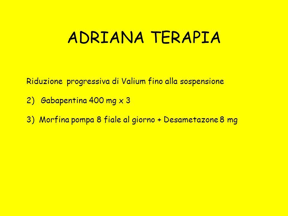 ADRIANA TERAPIA Riduzione progressiva di Valium fino alla sospensione