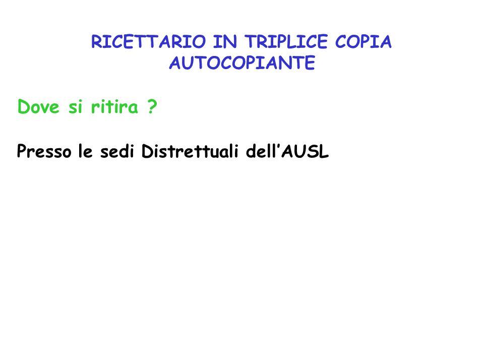 RICETTARIO IN TRIPLICE COPIA AUTOCOPIANTE