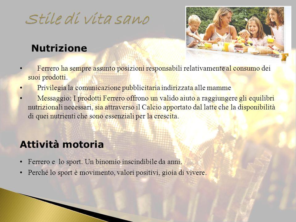 Stile di vita sano Nutrizione Attività motoria